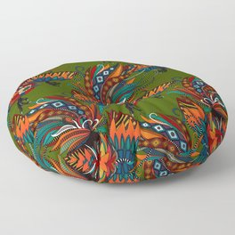 rooster ink green Floor Pillow