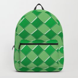 Green tiles pattern Backpack