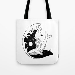 Space Wave (Take Me to the Place You've Dreamed Of) Tote Bag