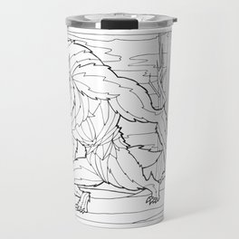Werewolf from the Bestiary Coloring Book Travel Mug