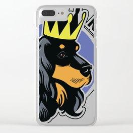 Black and tan cocker spaniel head Clear iPhone Case