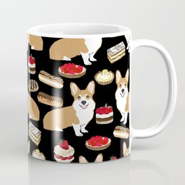 Corgi Patisserie Bakery French Parisian food, tarts, eclair, napoleon, cute food design Coffee Mug