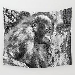 AnimalArtBW_OrangUtan_20170907_by_JAMColorsSpecial Wall Tapestry