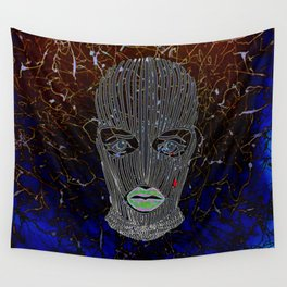 Masked Woman Wall Tapestry