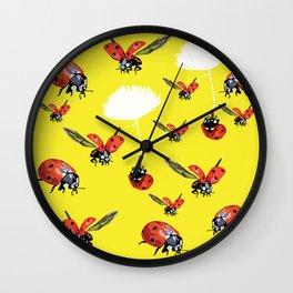 Ladybirds Wall Clock