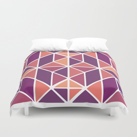 Purple Mosaic Duvet Cover