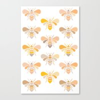 bees Canvas Prints featuring Bees by Heleen van Buul