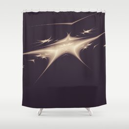 Star in Space Shower Curtain