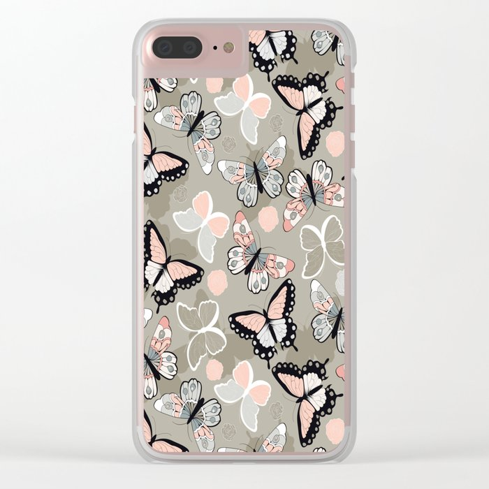 Butterfly pattern 002 Clear iPhone Case