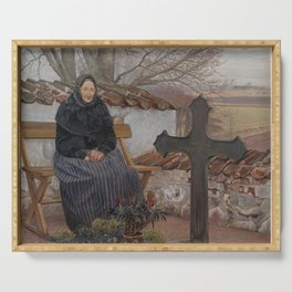 Laurits Andersen Ring - Churchyard at Fløng Serving Tray