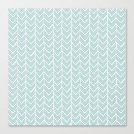 Herringbone Mint Canvas Print