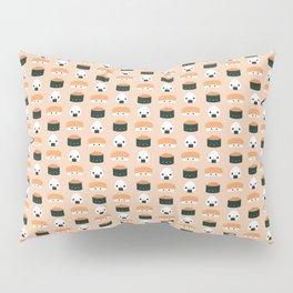 Salmon Dreams in peach, small Pillow Sham