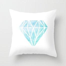 Diamond watercolour Throw Pillow