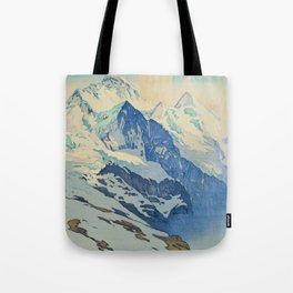 The Jungfrau Vintage Beautiful Japanese Woodblock Print Hiroshi Yoshida Tote Bag