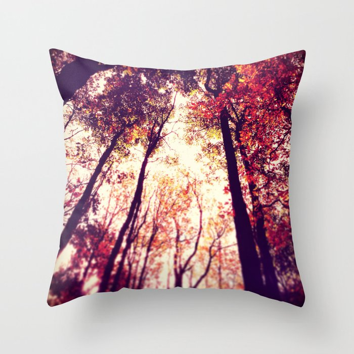 Autumn Red Throw Pillow By Joystclaire Society6