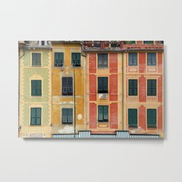 All About Italy. Piece 3 - Portofino Colors Metal Print