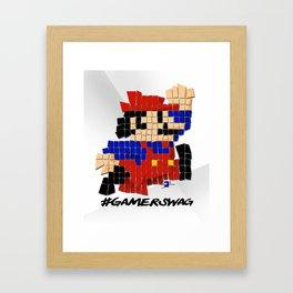 Pixel Mario Framed Art Print