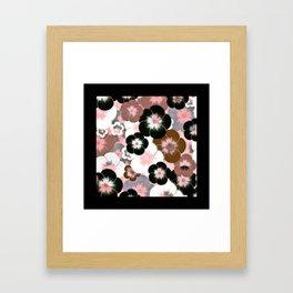 Abstract mauve pink brown black floral Framed Art Print