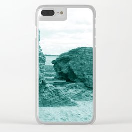 Shaped By The Sea - Turquoise Palette Clear iPhone Case