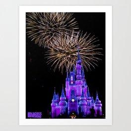Magic Kingdom - 2 Fireworks Art Print