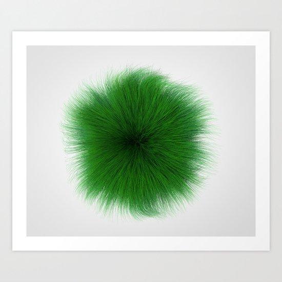 Green Fuzz Art Print