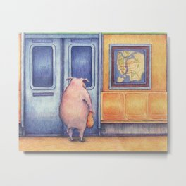 The Commuters Metal Print