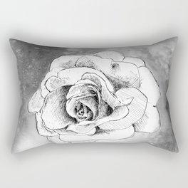 Ink Flower Night IV Rectangular Pillow