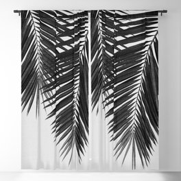 Palm Leaf Black & White II Blackout Curtain