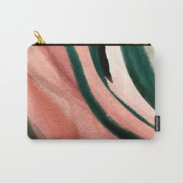 Spring in the City - a pretty mimimal watercolor abstract piece in pinks and greens Carry-All Pouch