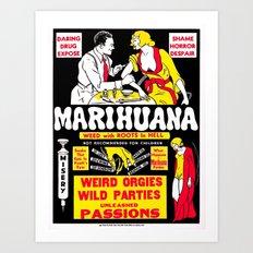 Marihuana Poster (Reefer Madness) Art Print