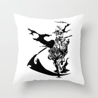 durarara Throw Pillows featuring Celty & Shooter by Prince Of Darkness
