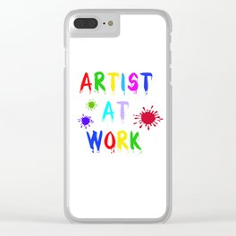 Artist at Work Clear iPhone Case