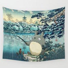 Japanese woodblock mashup Wall Tapestry