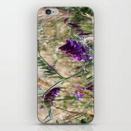 Field flowers iPhone Skin