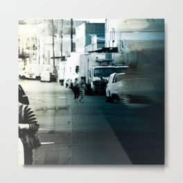 City Stripes Metal Print