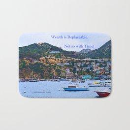"""""""Catalina Harbor""""/ """"Time"""" Bath Mat"""