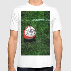 Rugby Time MEDIUM Mens Fitted Tee White