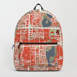 Beijing city map classic Backpack
