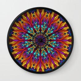Amazing colors 3D mandala Wall Clock
