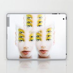 Green Alien Eyes Laptop & iPad Skin