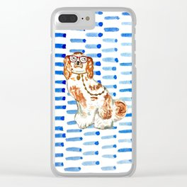 REDHEAD IN GLASSES - right facing Clear iPhone Case