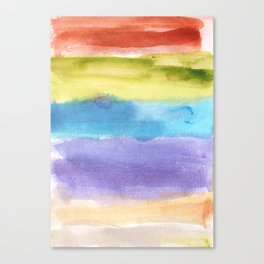 watercolor abstract painting Canvas Print
