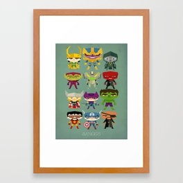 avengers and villains Framed Art Print