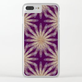 floral transparencies pattern Clear iPhone Case