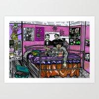 Teenage Bedroom Art Print
