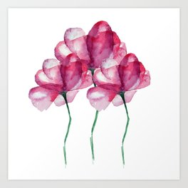 Blooming Red Flowers Art Print