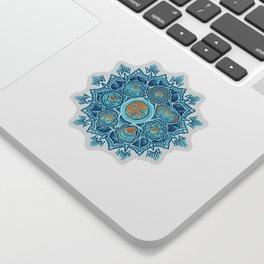 Alyson Anahata Seven Chakra Sun Flower Mandala 1 Sticker