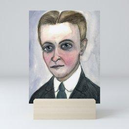 This Side of Fitzgerald, F. Scott Fitzgerald Literary Portrait Mini Art Print