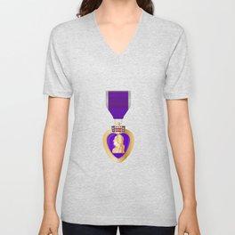 Purple Heart Medal Unisex V-Neck