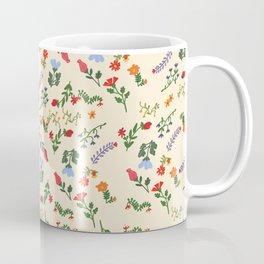 Bright Vintage Flower Pattern Coffee Mug
